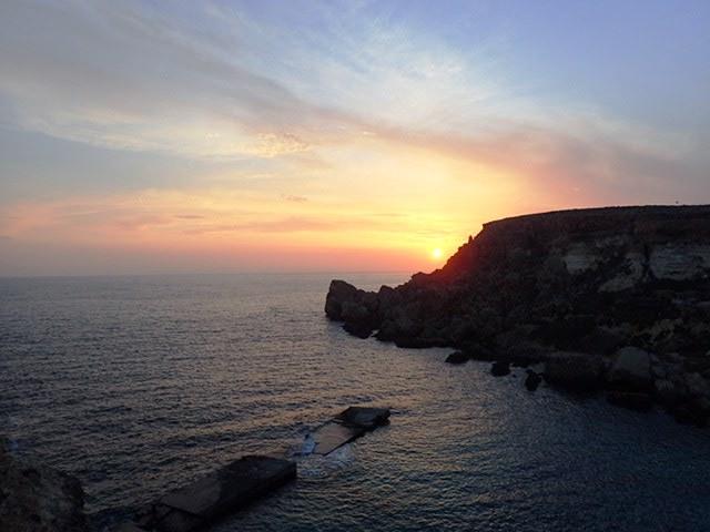 Malta sunset, elabenducka.pl